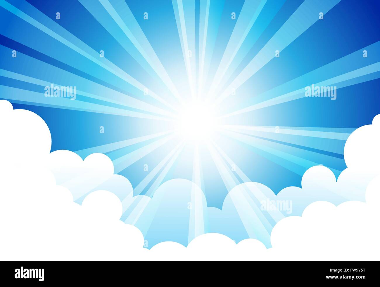 Vecteurs de nuages ciel Soleil Photo Stock