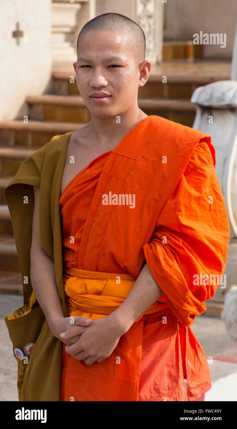 Jeune moine bouddhiste Photo Stock