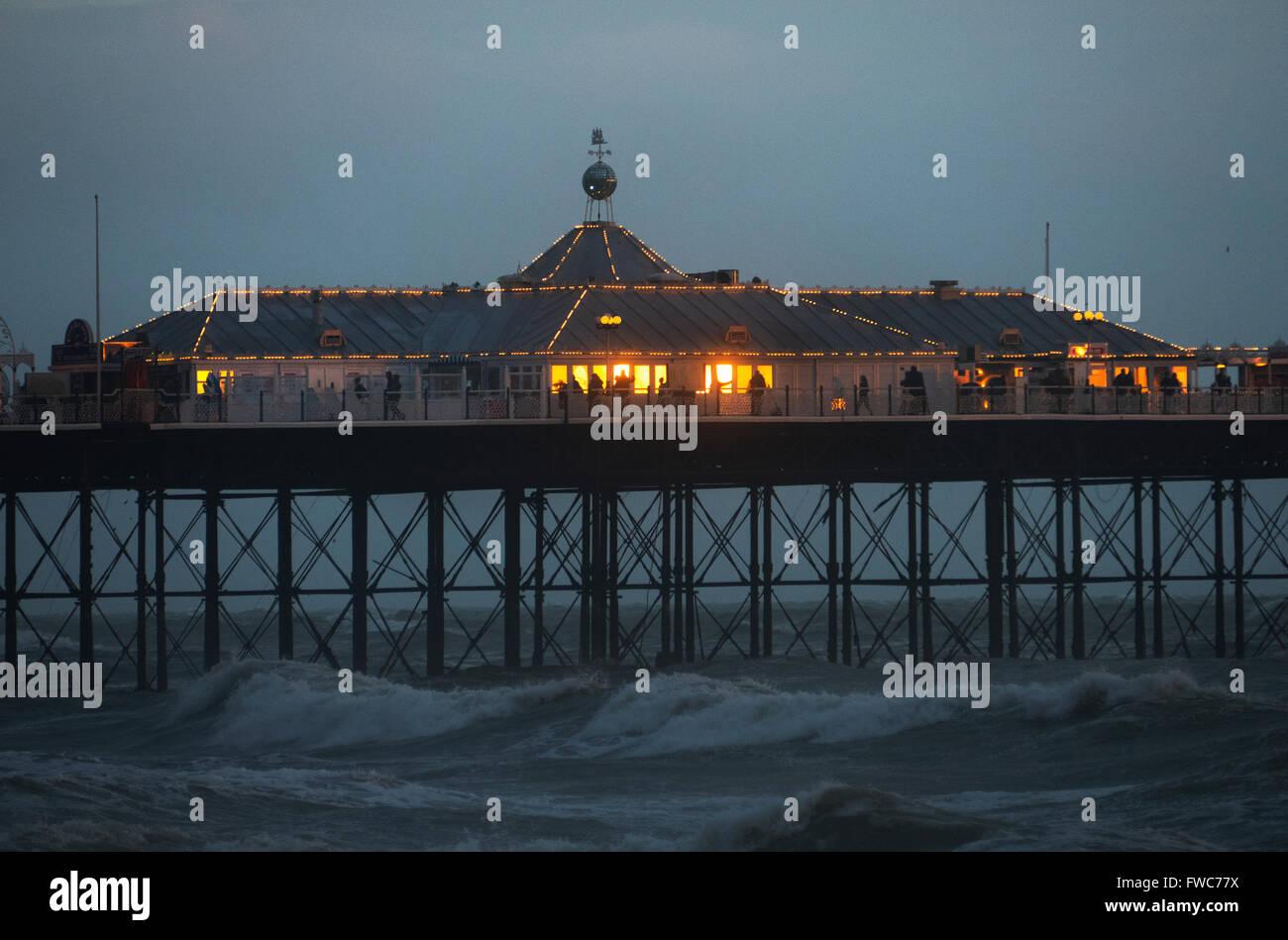 La jetée de Brighton, Brighton, Angleterre, Banque D'Images