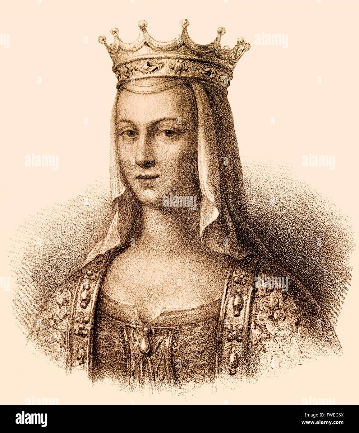 Anne de Kiev, née Anna Yaroslavna, également appelé Agnes; c. 1030-1075, le ruthène reine consort d'Henri I de France Banque D'Images