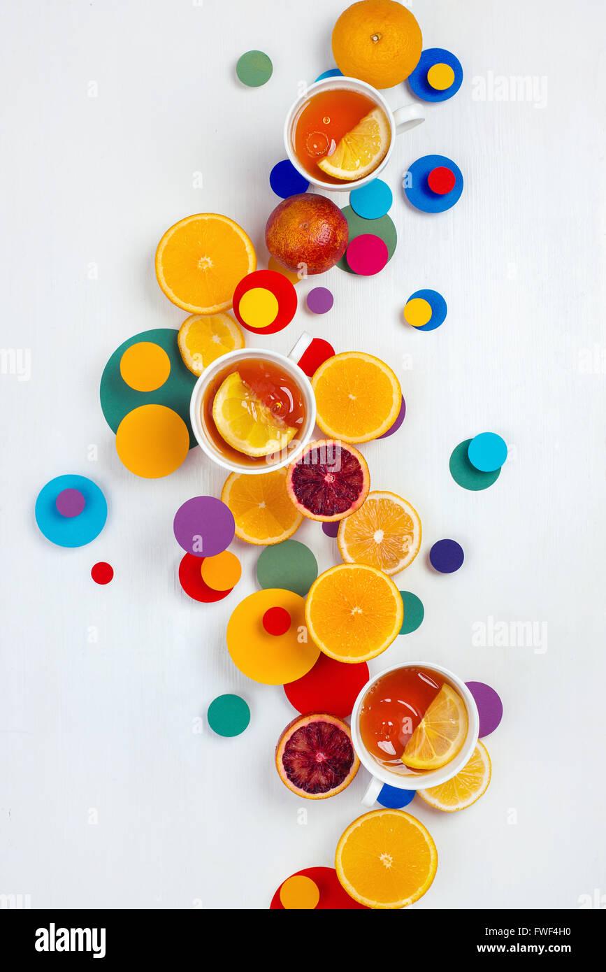 Teatime Suprematic Photo Stock