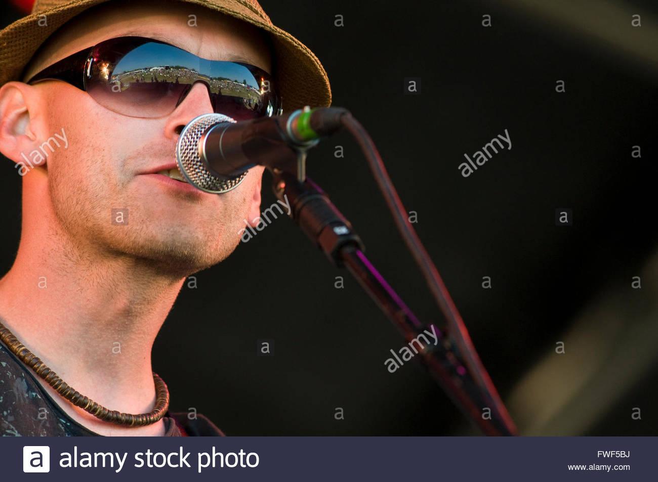 Gary Armstrong, chanteur auteur-compositeur de Mansfield-celtique basé sur bande, les rois de betterave se Photo Stock