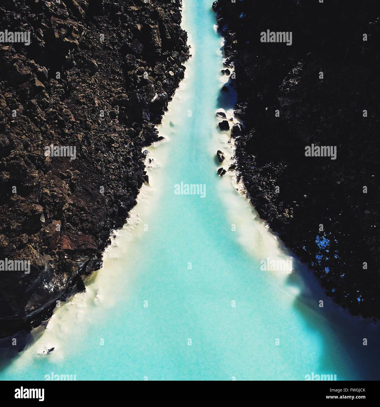 High Angle View of Blue Lagoon Photo Stock