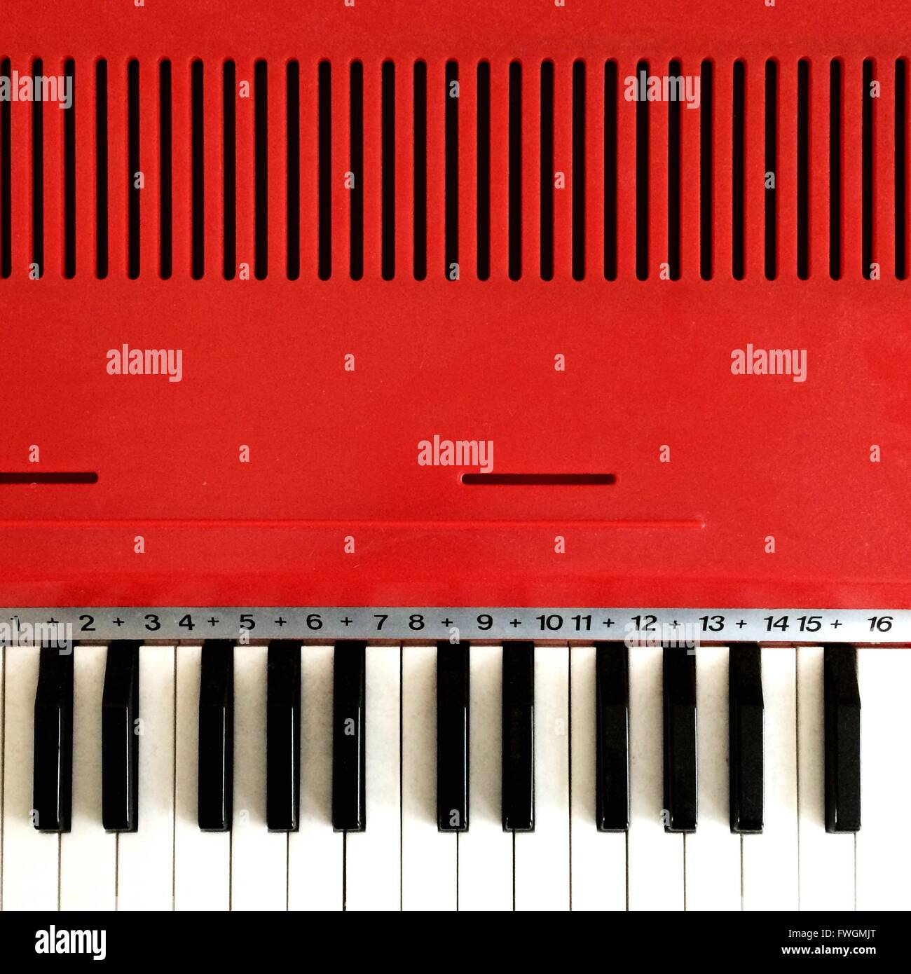 Portrait de Piano Photo Stock