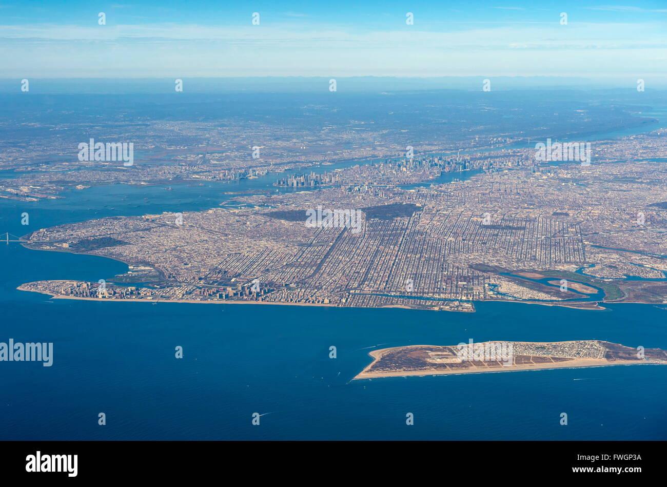 Vue aérienne de New York, États-Unis d'Amérique, Amérique du Nord Banque D'Images