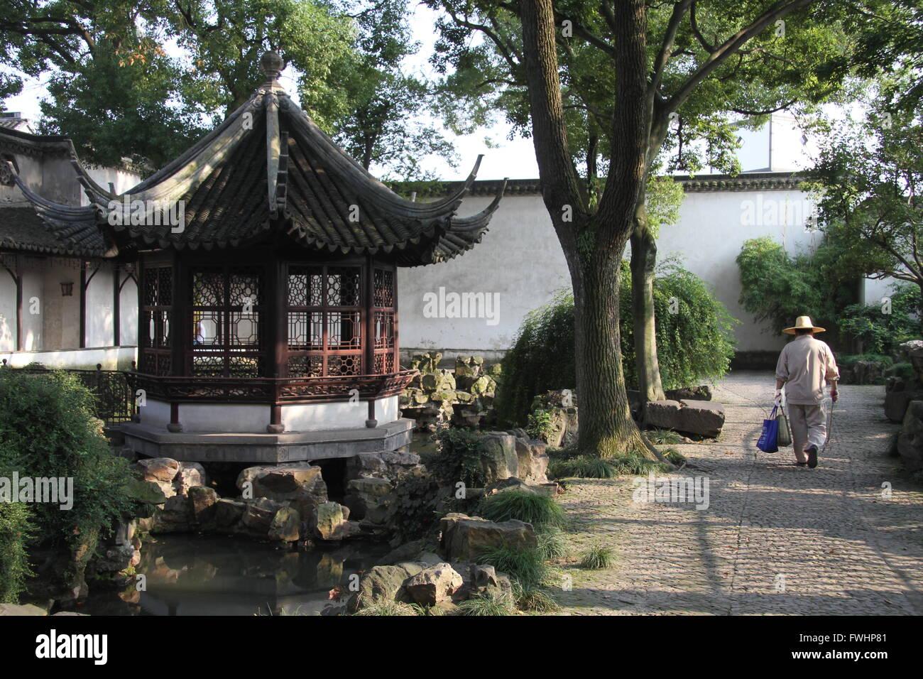 L'Humble Administrator's Garden, Suzhou, province de Jiangsu, Chine Photo Stock
