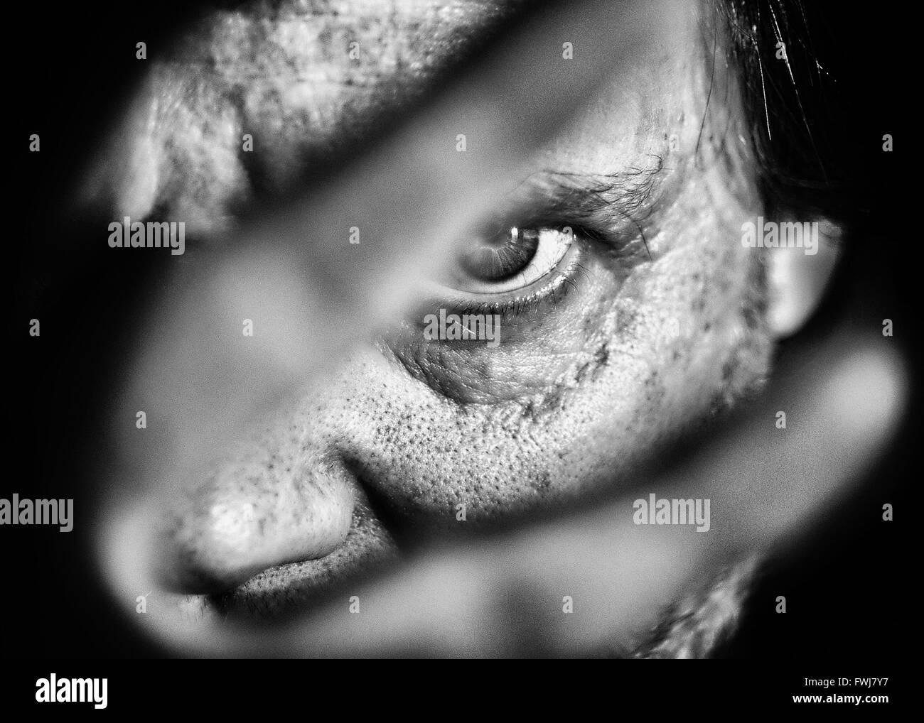 Portrait Portrait de l'Homme Photo Stock