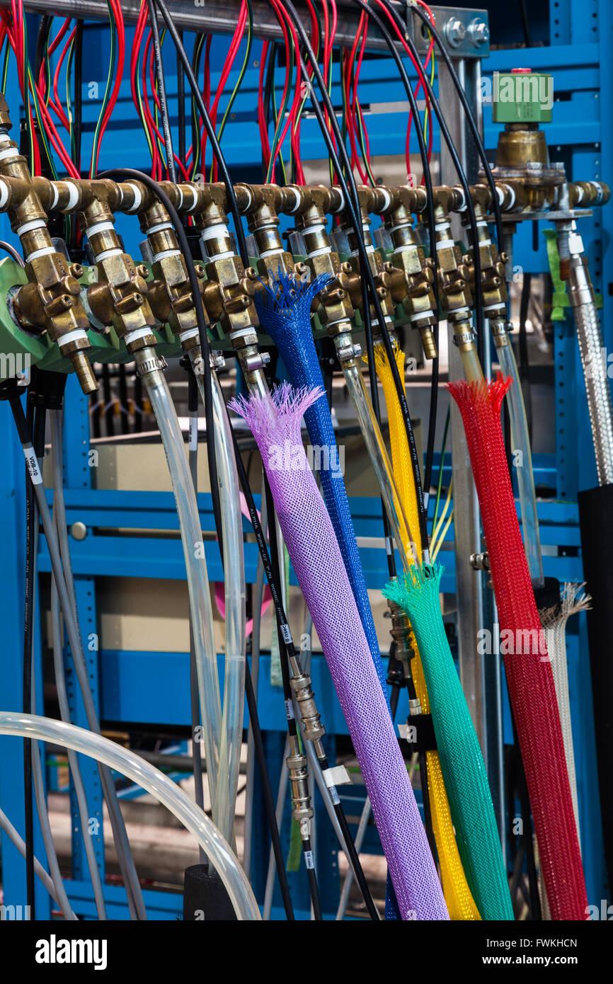 Des codes de couleur à partir de fournitures de refroidissement un collecteur commun Photo Stock