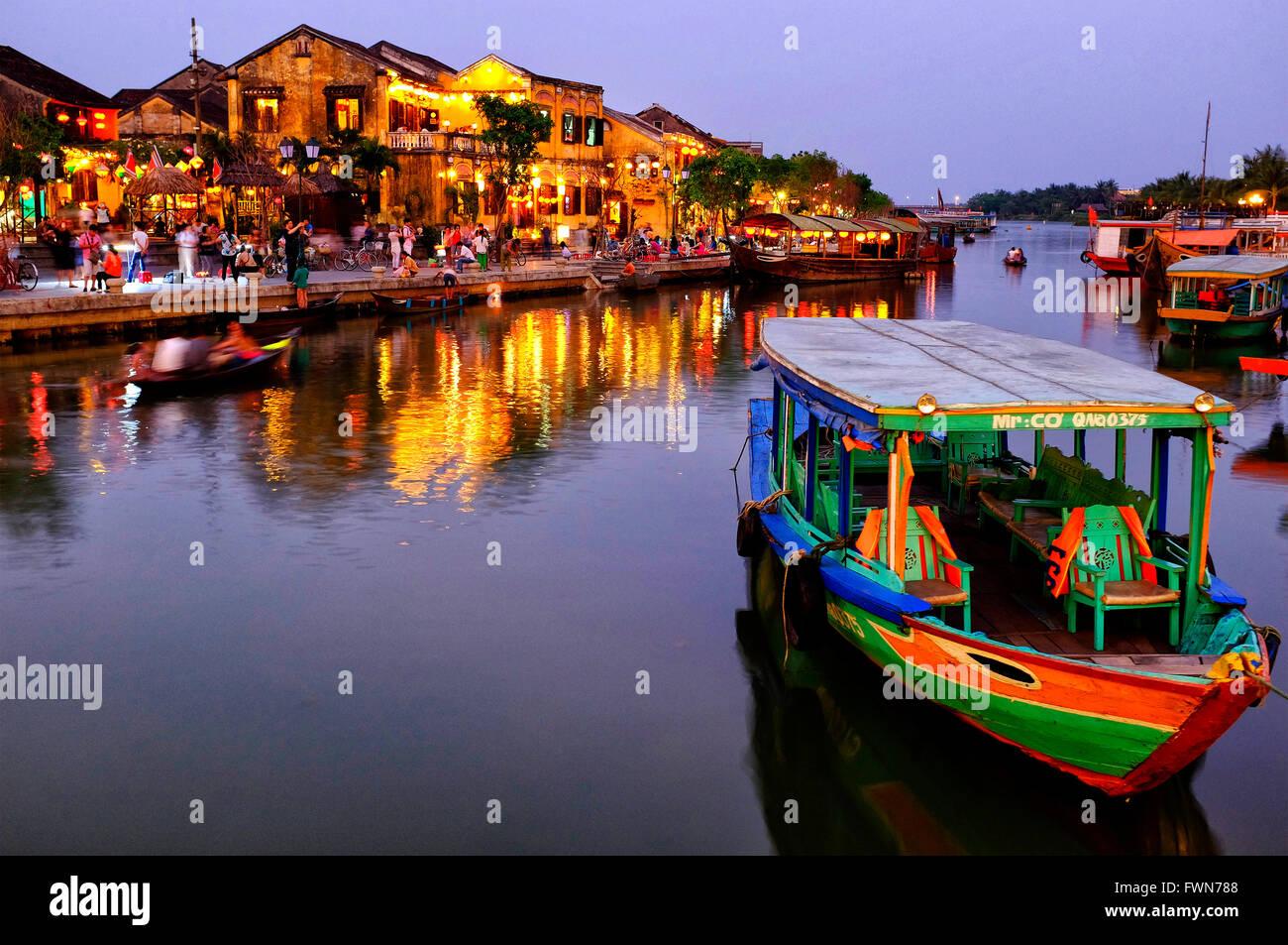 Riverfront, Hoi An Hoi An, Vietnam Photo Stock