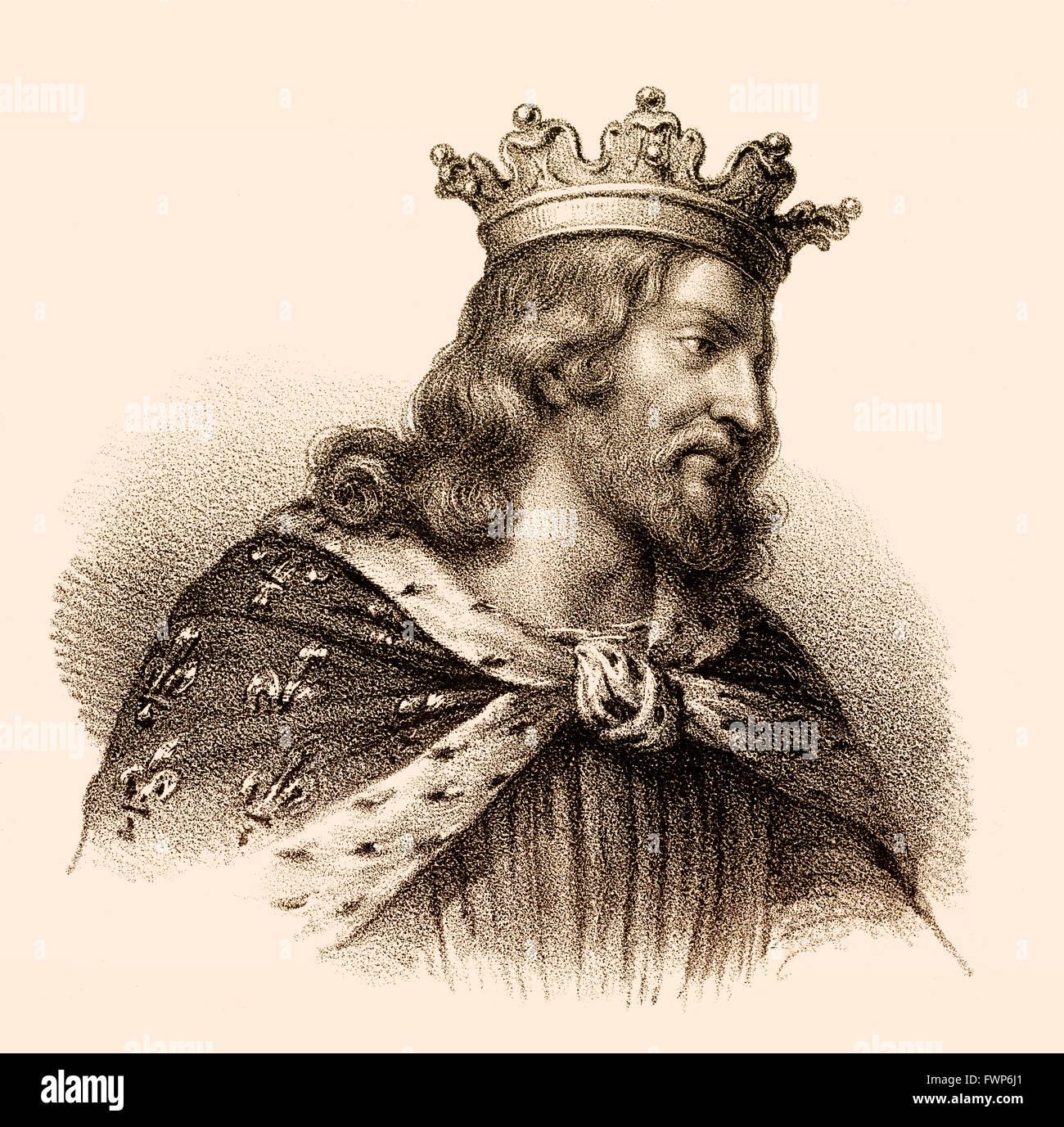 François I, ou Cherebert, ch. 517-567, roi des Francs, le roi mérovingien de Paris, François I., um 520-567, König der Banque D'Images