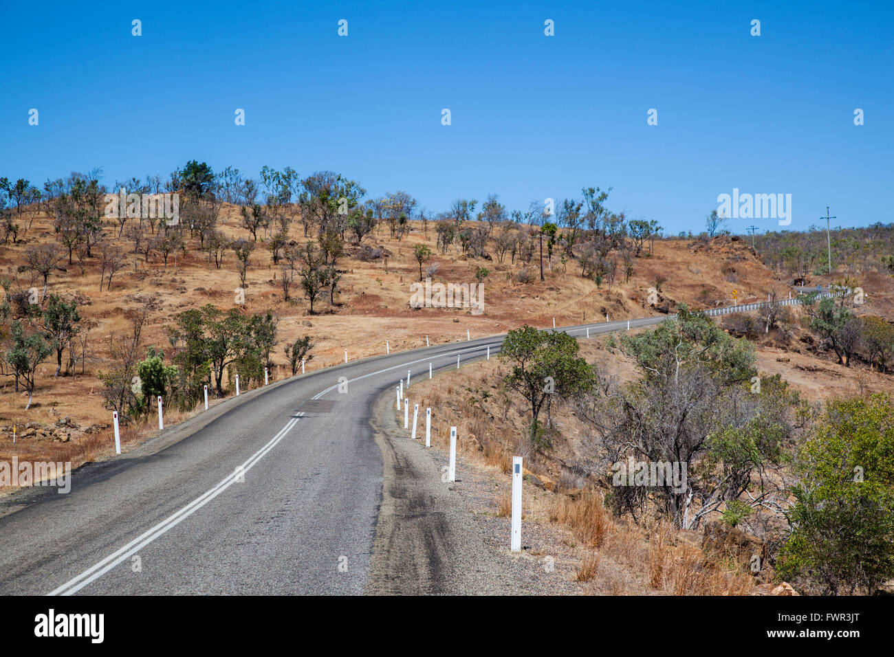 L'Australie, Queensland, Savannah Way, route de développement du Golfe Photo Stock