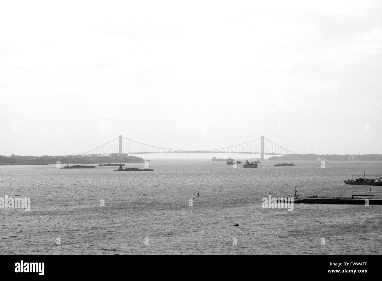 Verrazano-Narrows Bridge, New York, États-Unis d'Amérique. Banque D'Images