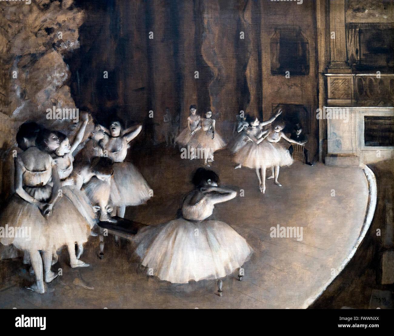 Répétition du ballet sur scène, la répétition d'un ballet sur la scène, par Edgar Photo Stock