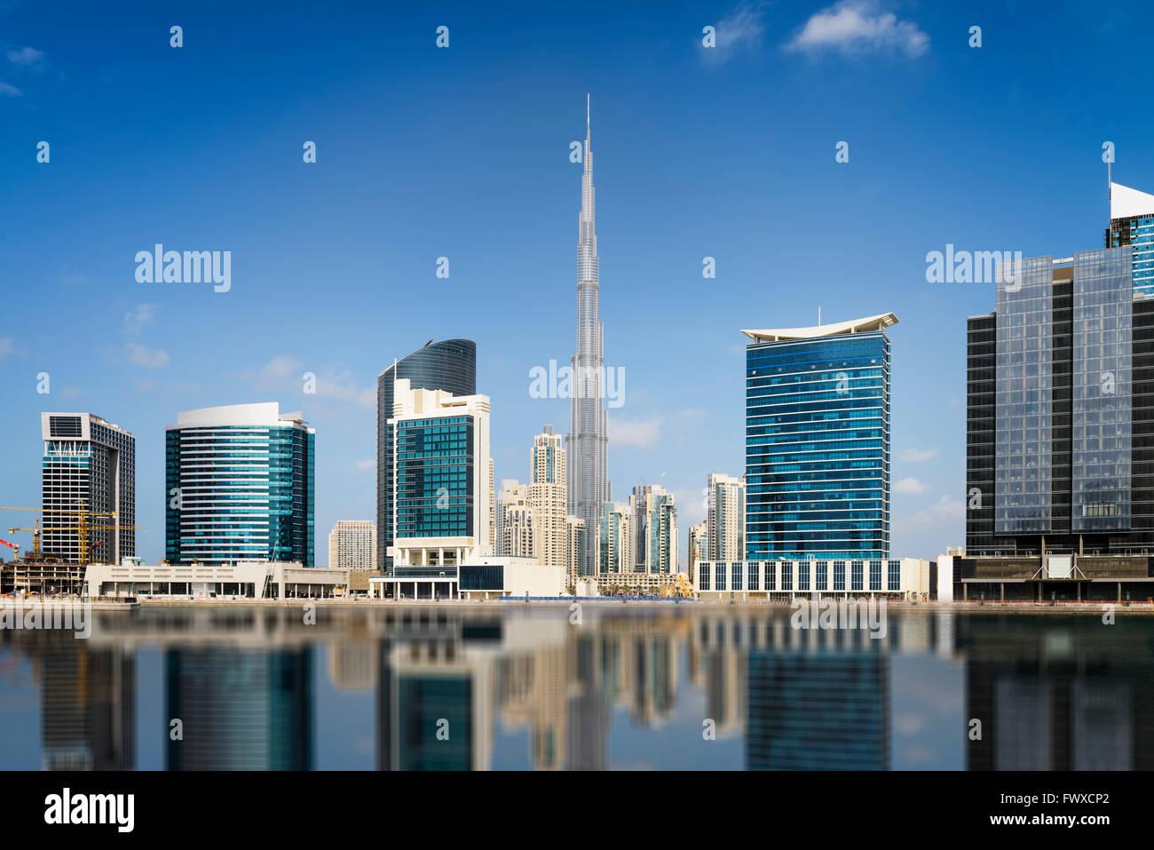 Les toits de Dubaï, Émirats Arabes Unis Photo Stock