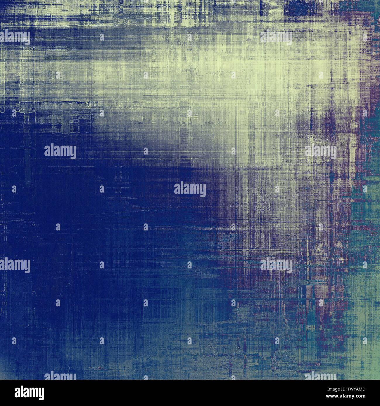 old grunge texture antique. avec différents motifs couleur : bleu