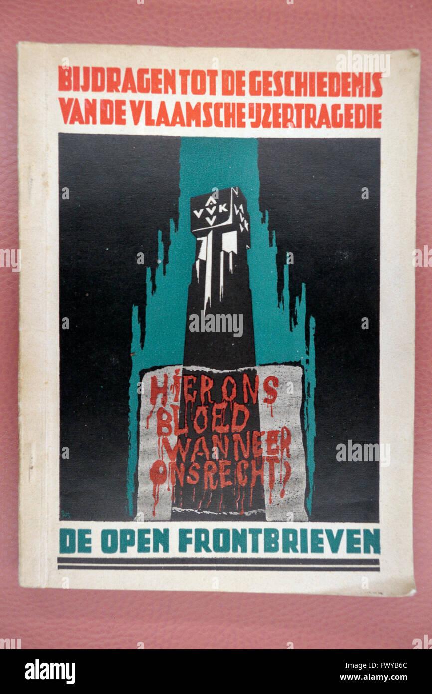 La DEUXIÈME GUERRE MONDIALE un nationalisme flamand poster dans le Bastogne War Museum, Bastogne, Belgique. Photo Stock