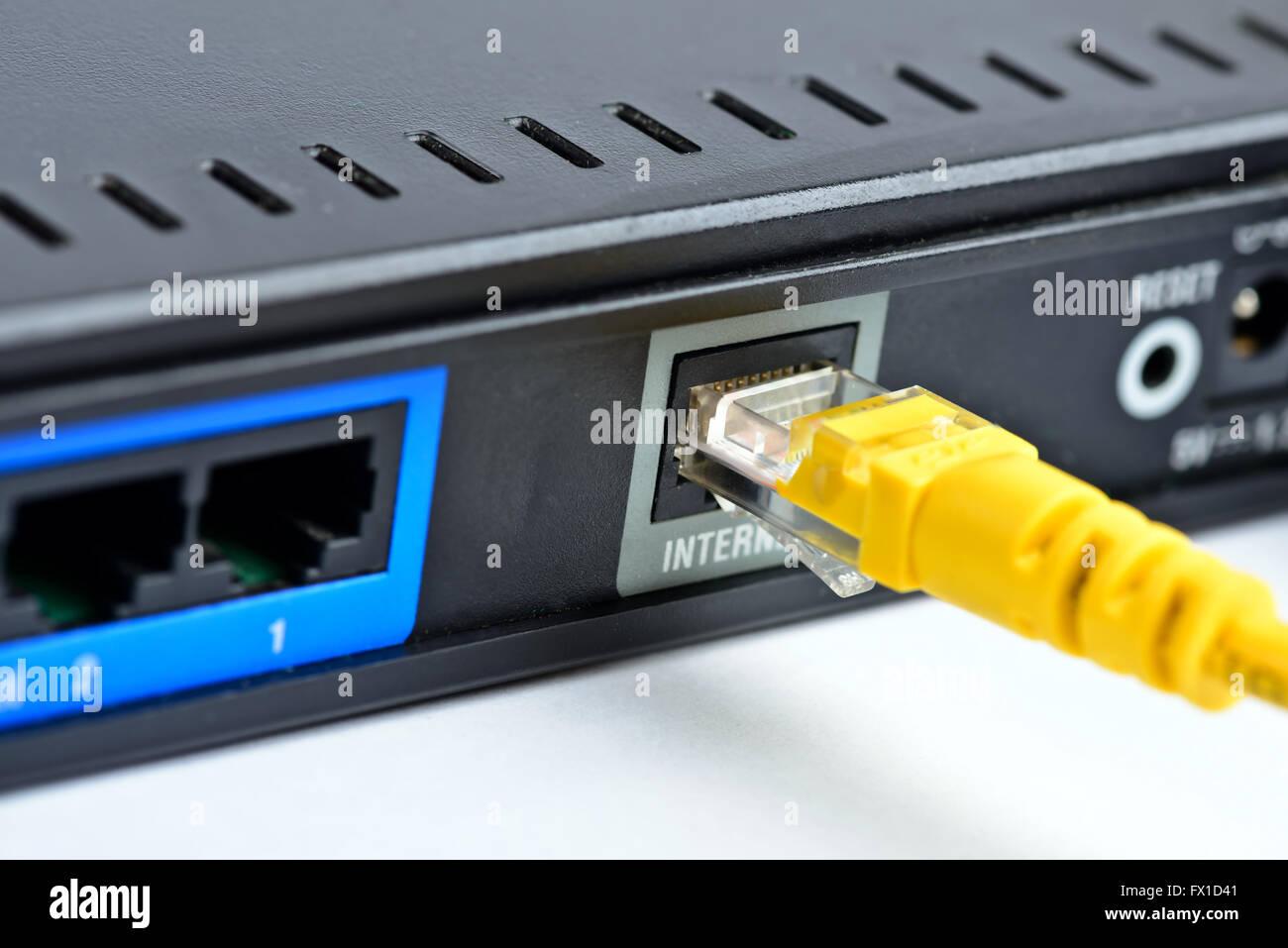 Prise et la fiche de connexion Internet Photo Stock