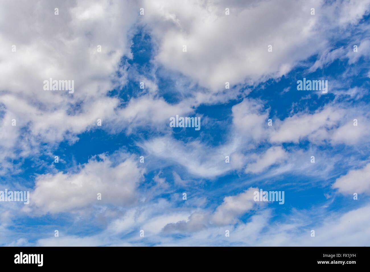 Le ciel nuages incroyable Photo Stock