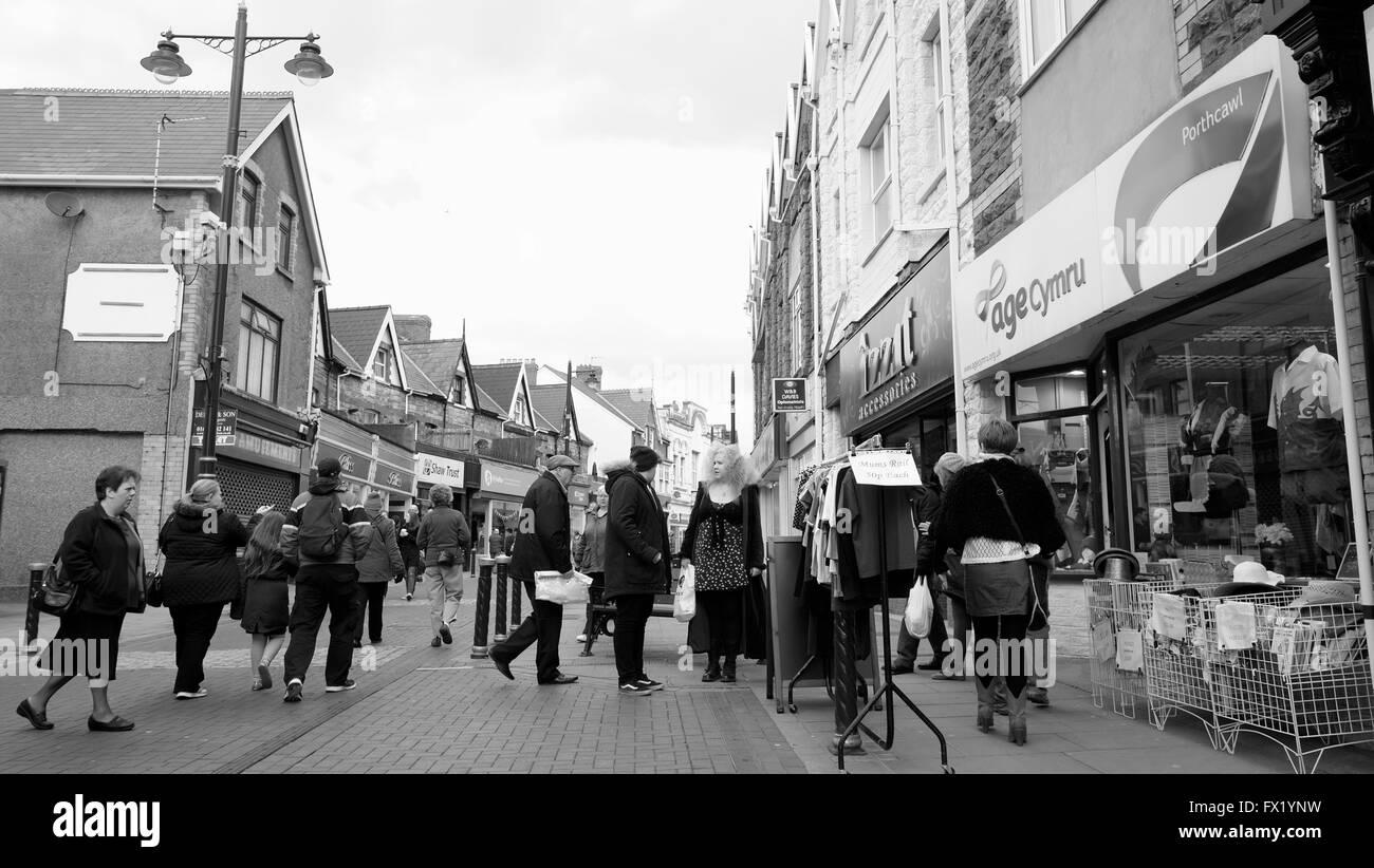 Scène de rue à Porthcawl age concern nombre 3566 Photo Stock