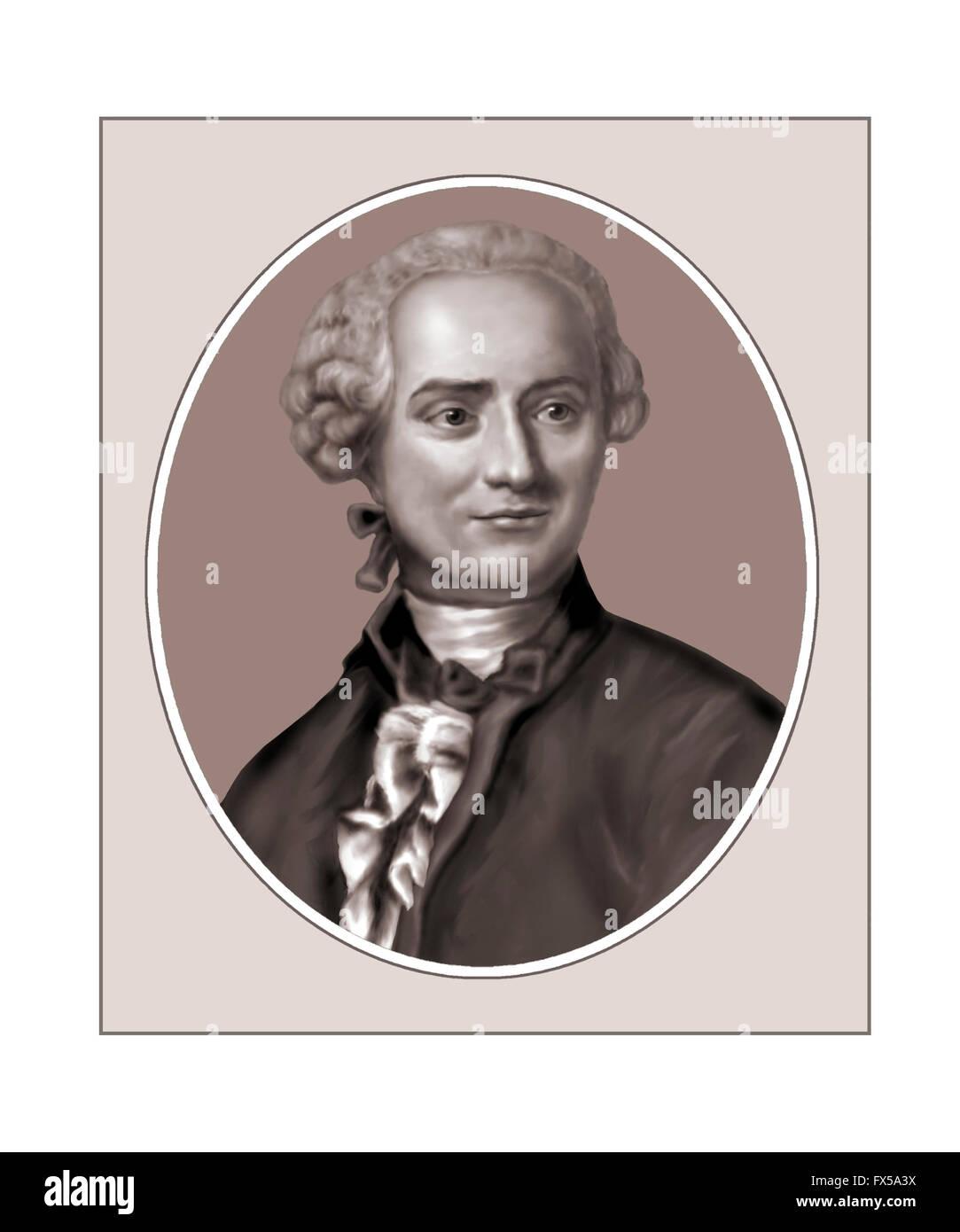 Jean Le Rond d'Alembert, 1717-1783, mathématicien Photo Stock