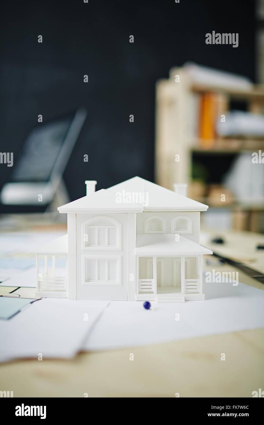 Modèle de future maison Photo Stock