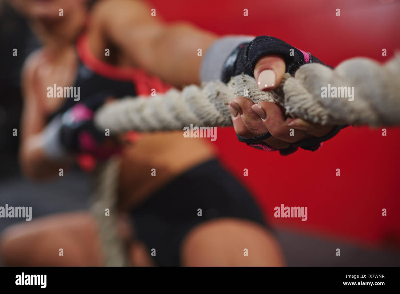 Main de femme sportive Photo Stock