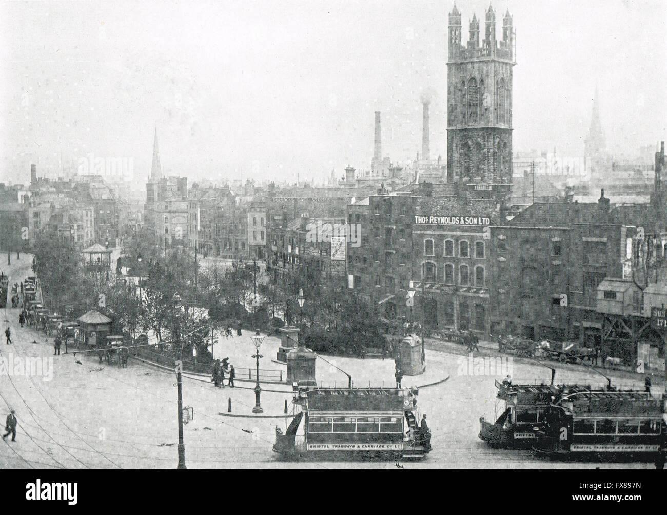St Colston, Bristol, Angleterre au début du siècle vers 1900 Photo Stock