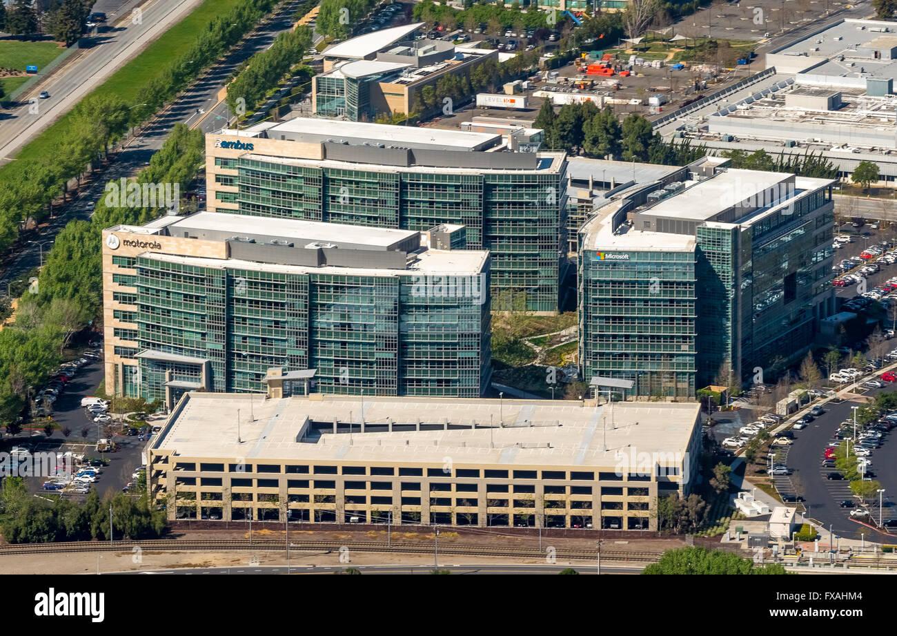 Siège de sociétés IT Google Tech Coins, gestion Motorola, Microsoft, Rambus, Sunnyvale, Silicon Valley, Photo Stock