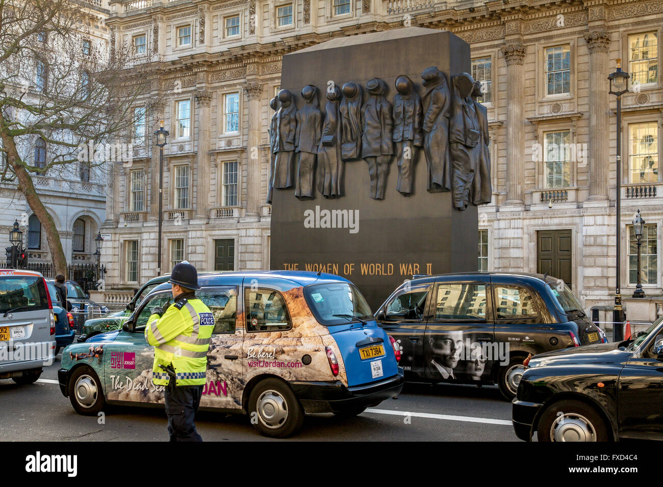 L'Association des chauffeurs de taxi de Londres protester contre Uber à Londres, des centaines de taxis Photo Stock