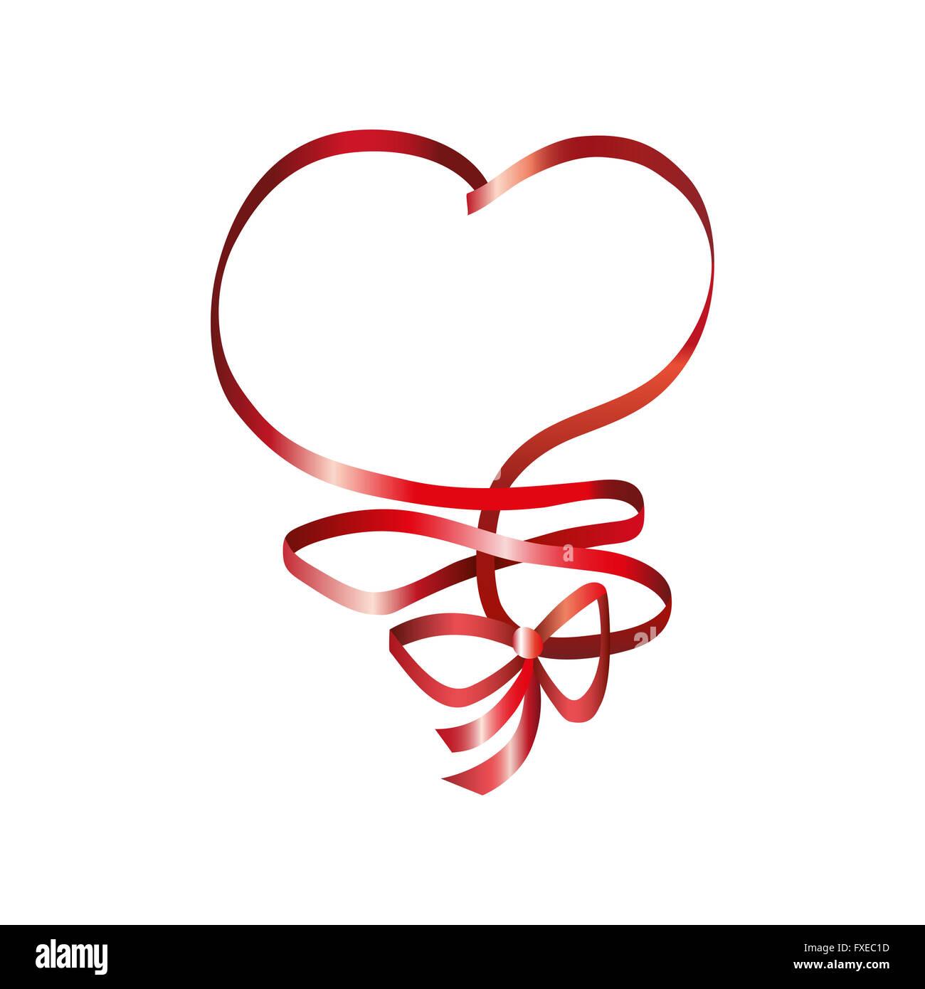 Coeur Ruban. Élément de Jour de Valentines. Spe.10 Photo Stock