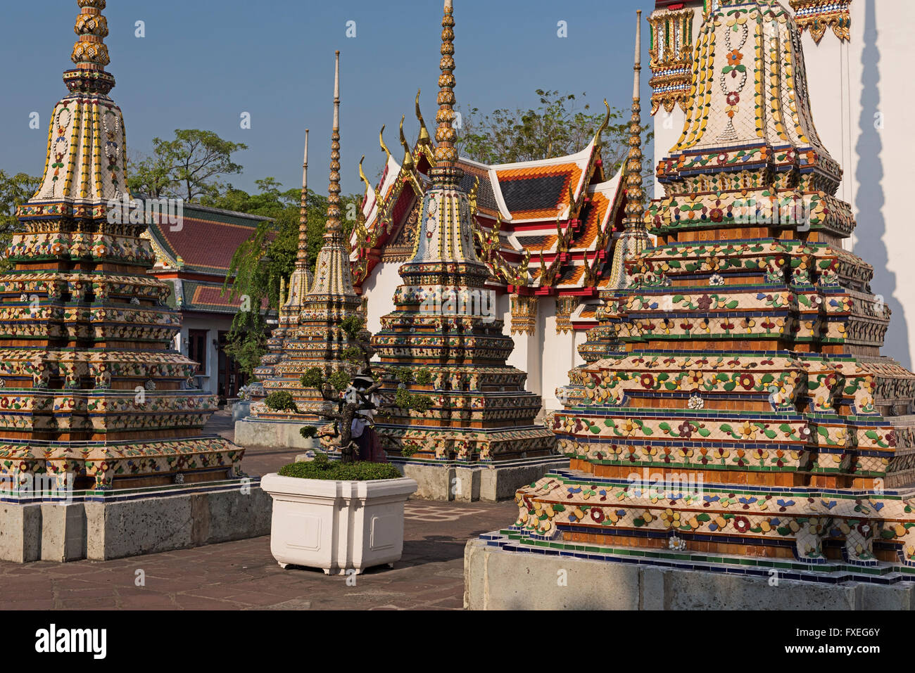 Wat Pho Bangkok Thaïlande Photo Stock