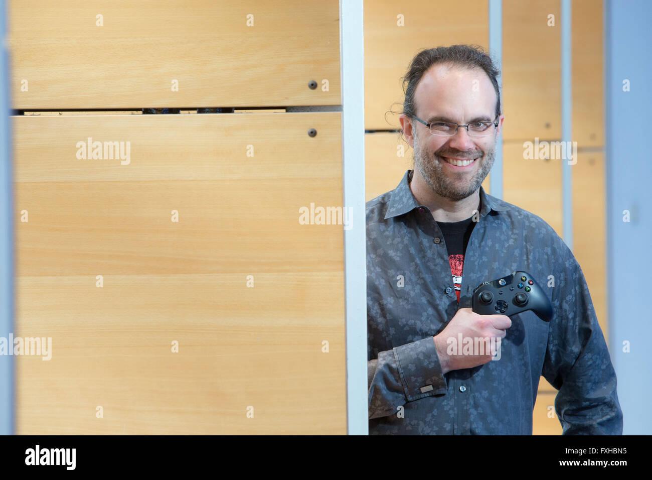 Boyd Multerer - l'homme responsable de Xbox Live, le service de jeu et de divertissement aujourd'hui utilisé Photo Stock