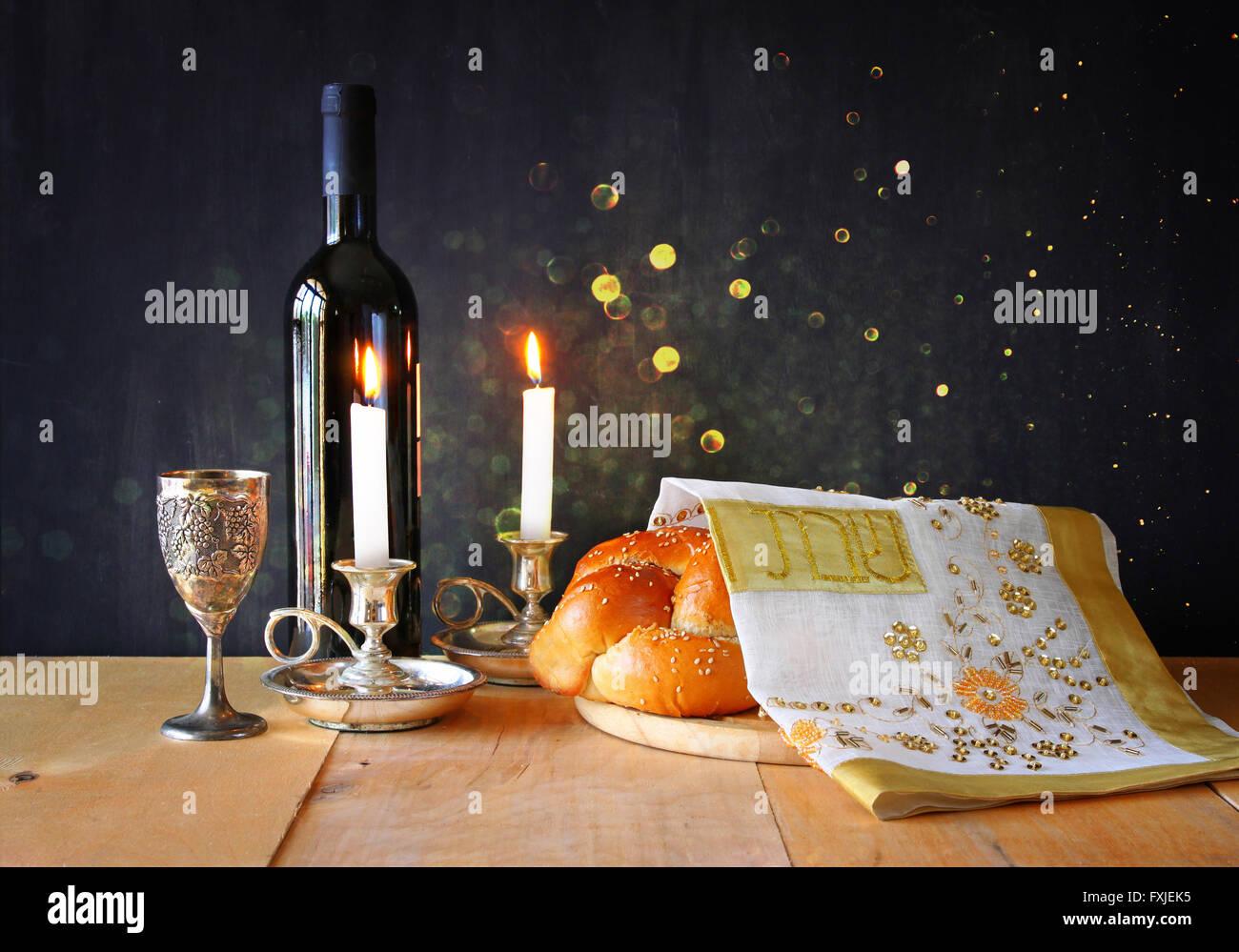 Image religion juive du sabbat. concept Photo Stock