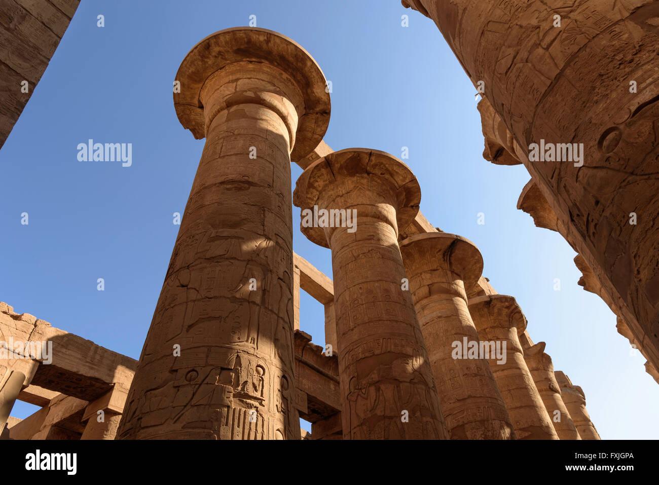Temple de Karnak Louxor en Égypte Photo Stock