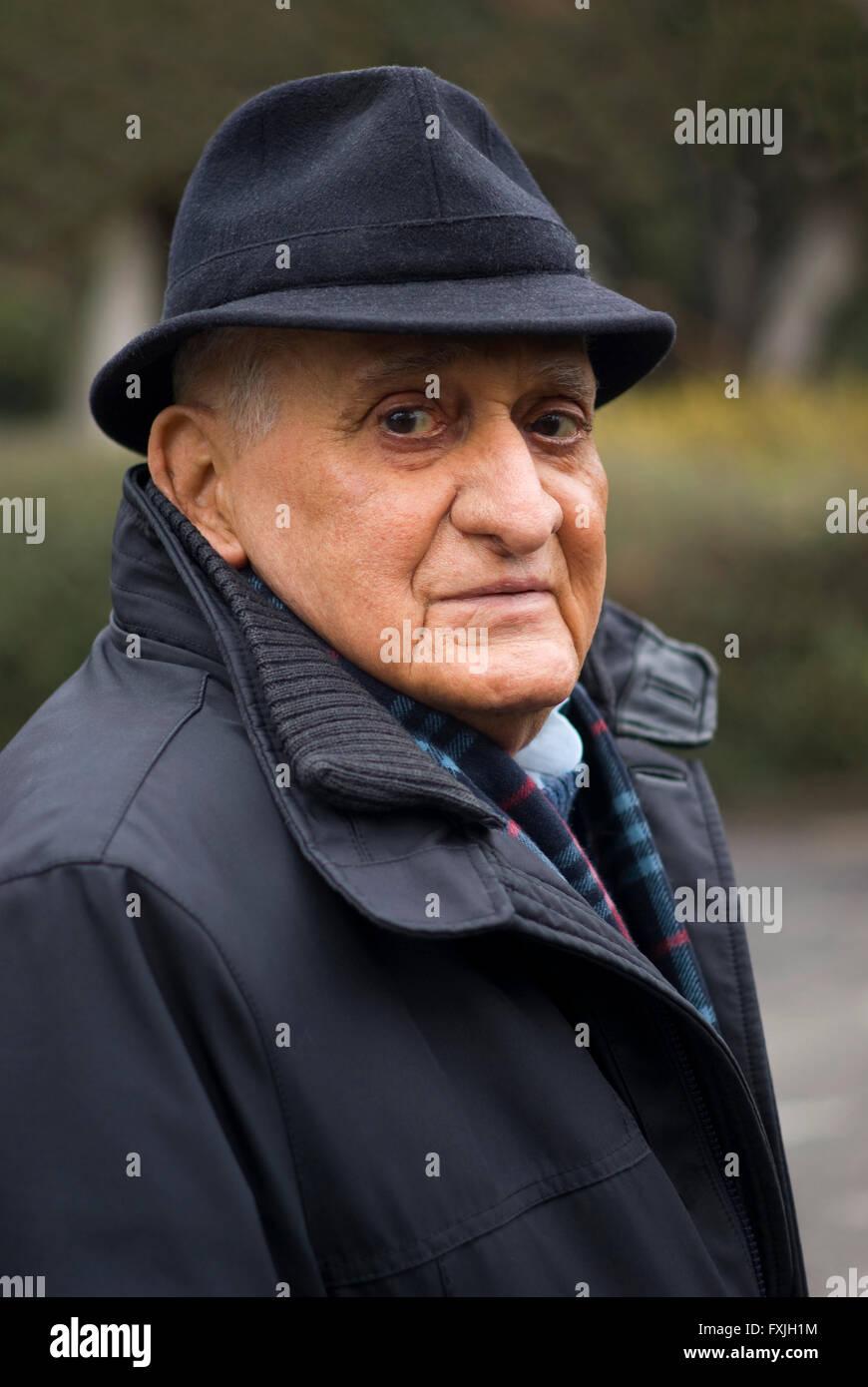 Senior 80 ans, Portrait Photo Stock
