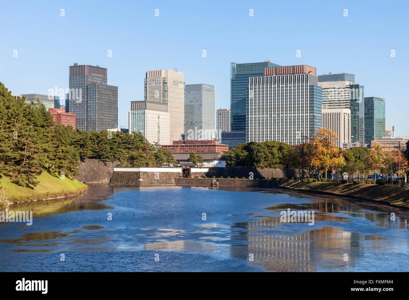Vue sur la ville de Tokyo, Japon Photo Stock