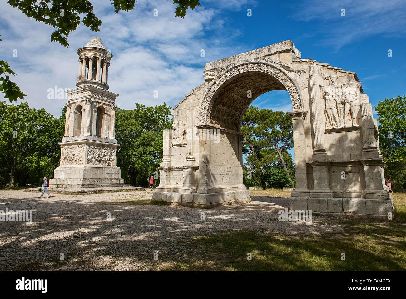 Glanum, Saint-Rémy-de-Provence, France Photo Stock