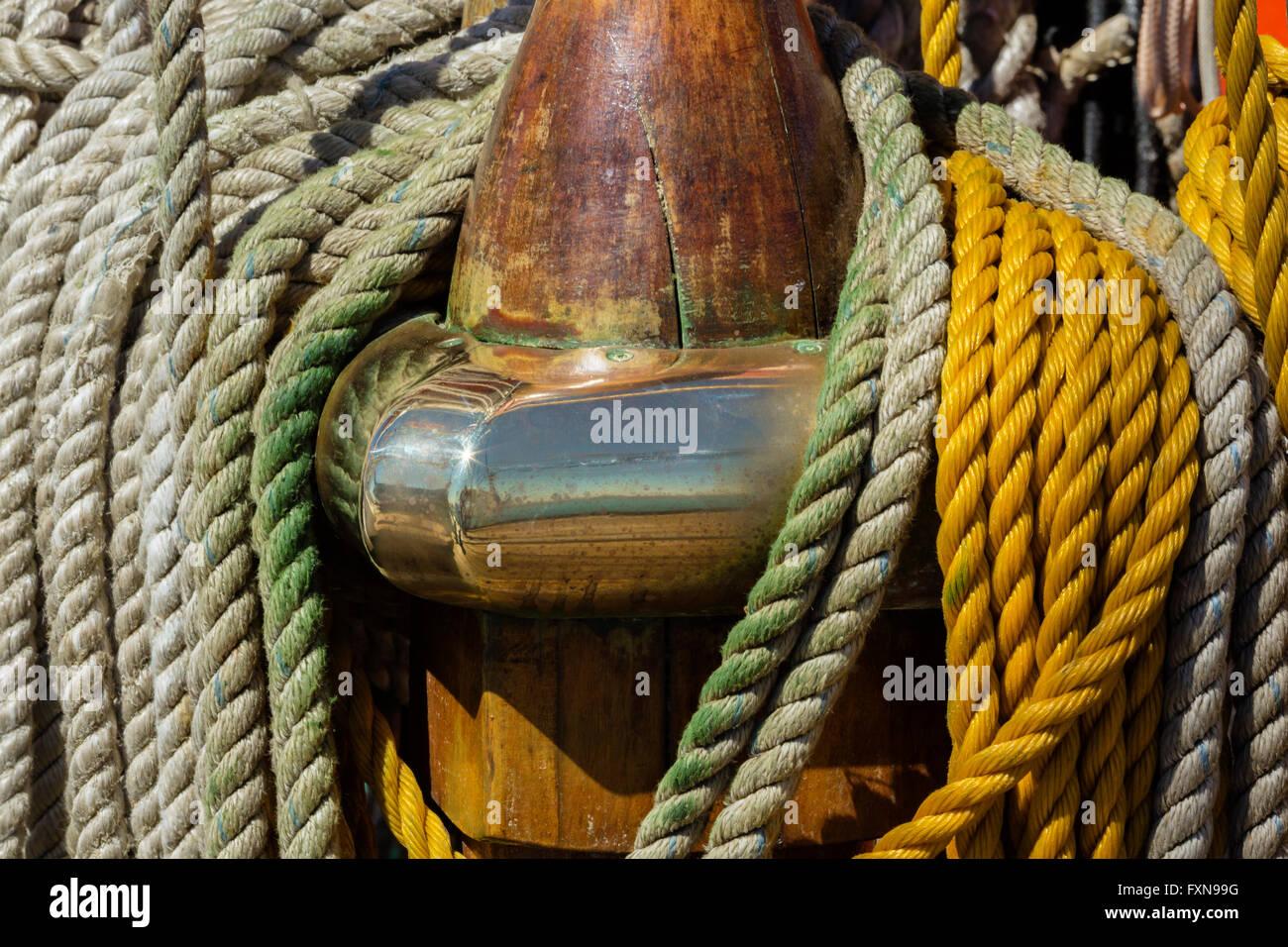 Bateau à voile, de l'arceau Photo Stock