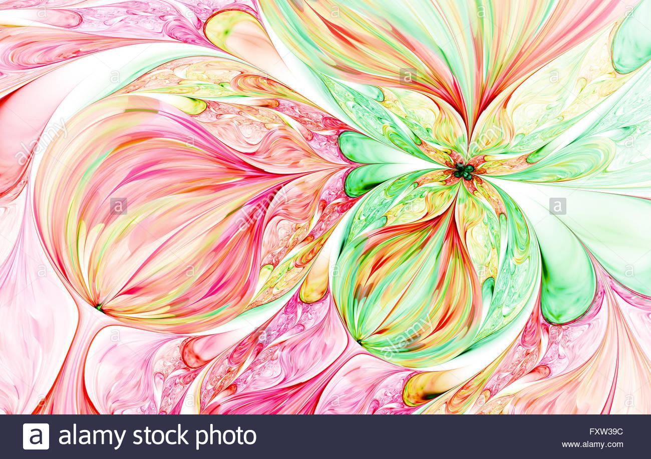 Vague de fond abstrait violet psychédélique. Abstract art fractal pattern pour fond d'écran ...