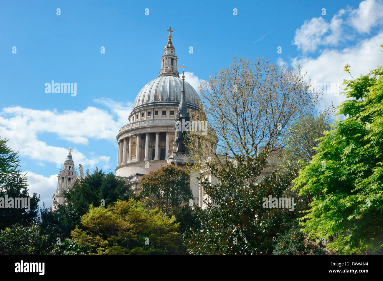 La Cathédrale St Paul, dans la ville de Londres, Angleterre, Grande-Bretagne, Royaume-Uni, FR, UK Photo Stock