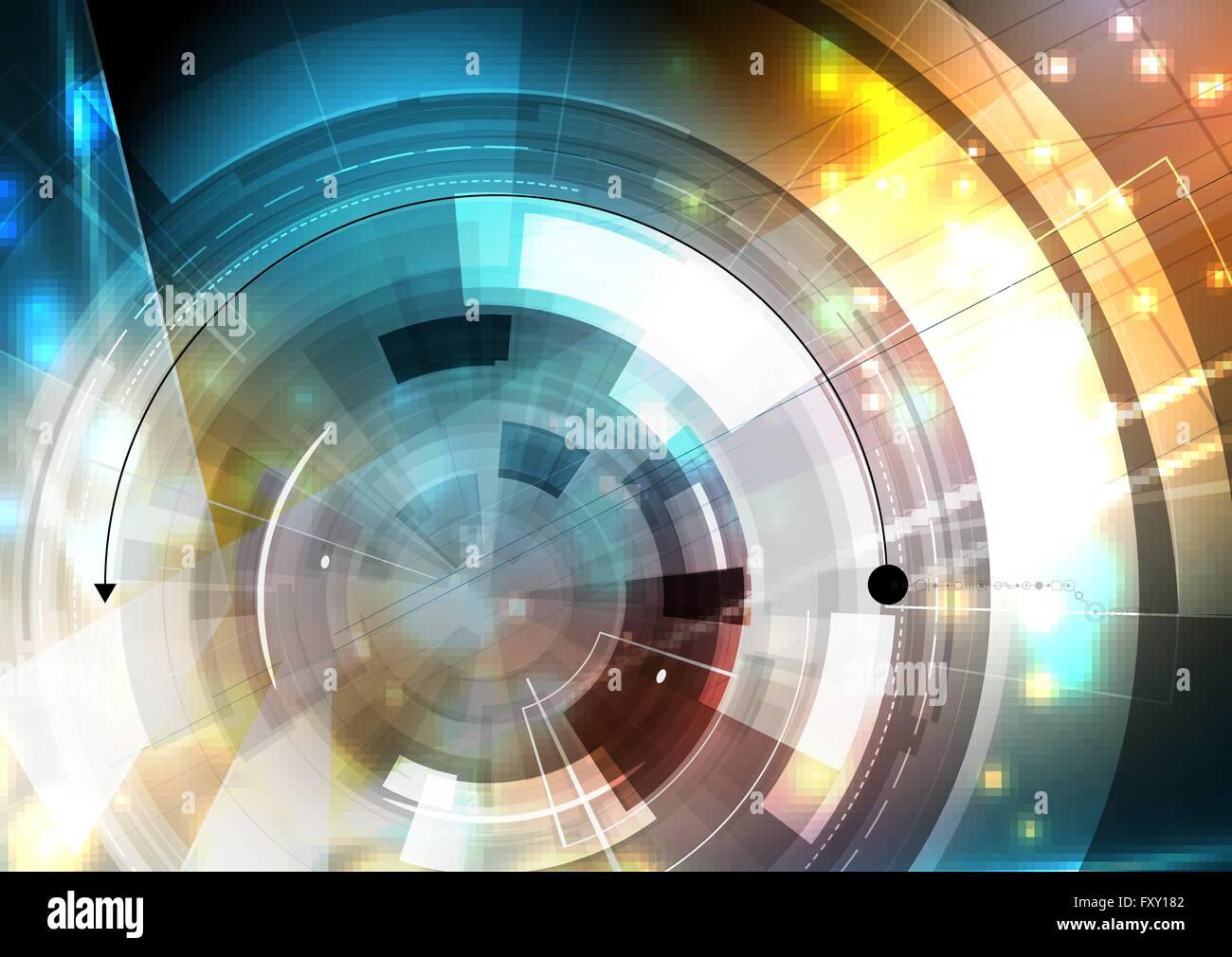 La technologie de l'avenir scientifique. Pour la présentation d'affaires. Flyer, affiche Vector Background Concept Illustration de Vecteur