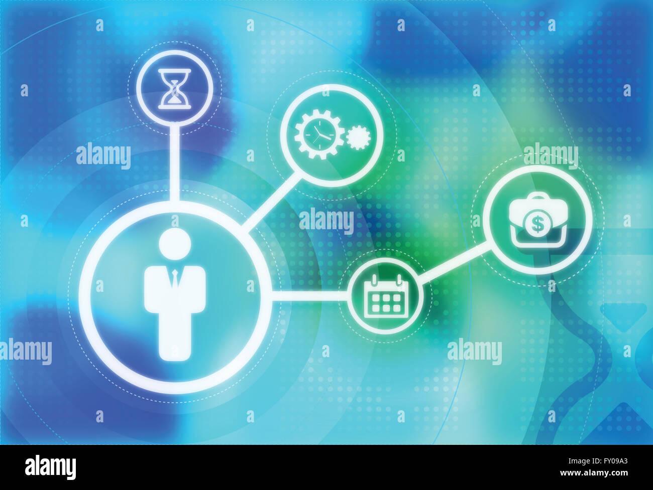 Image d'illustration montrant l'importance de la gestion du temps en entreprise Banque D'Images