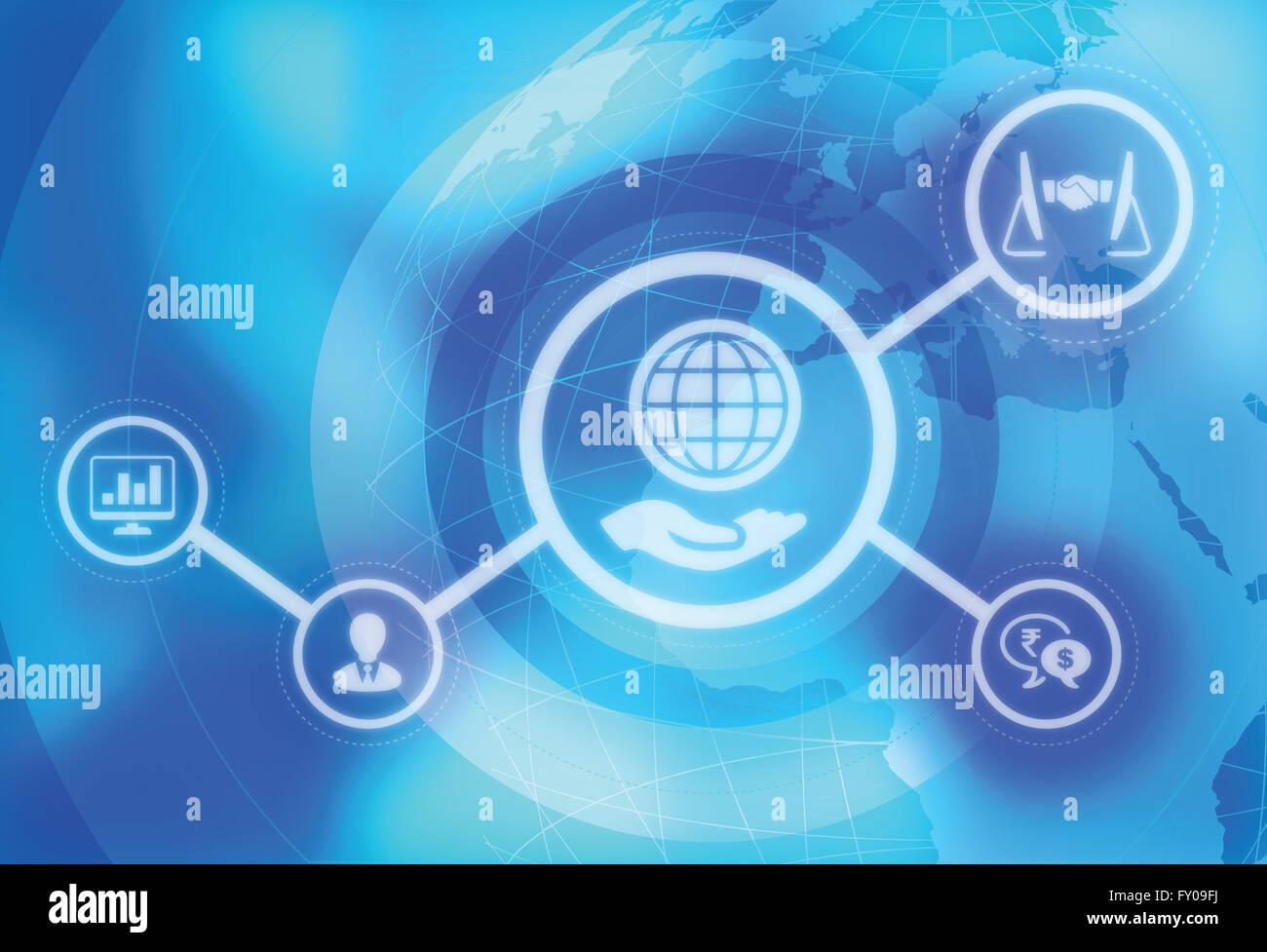 Image d'illustration représentant la mondialisation de l'activité Banque D'Images