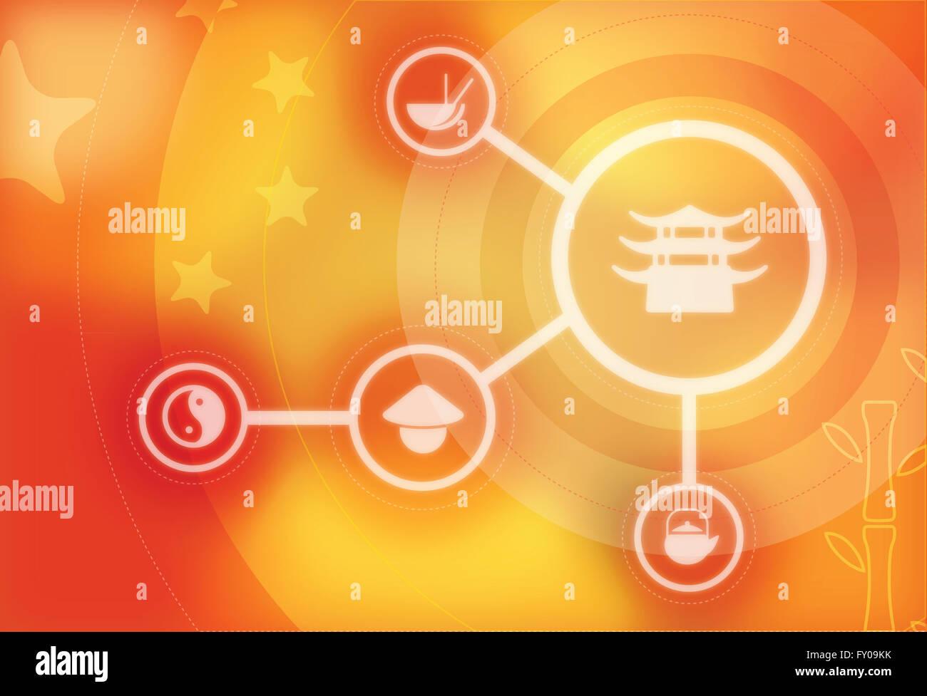 Image d'illustration représentant concept de pagode chinoise Banque D'Images