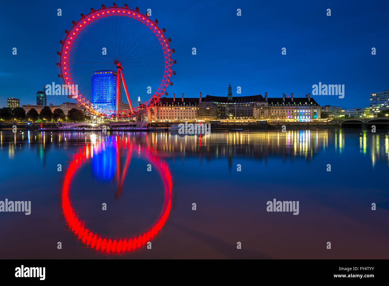 Le London Eye, London, Royaume-Uni Banque D'Images