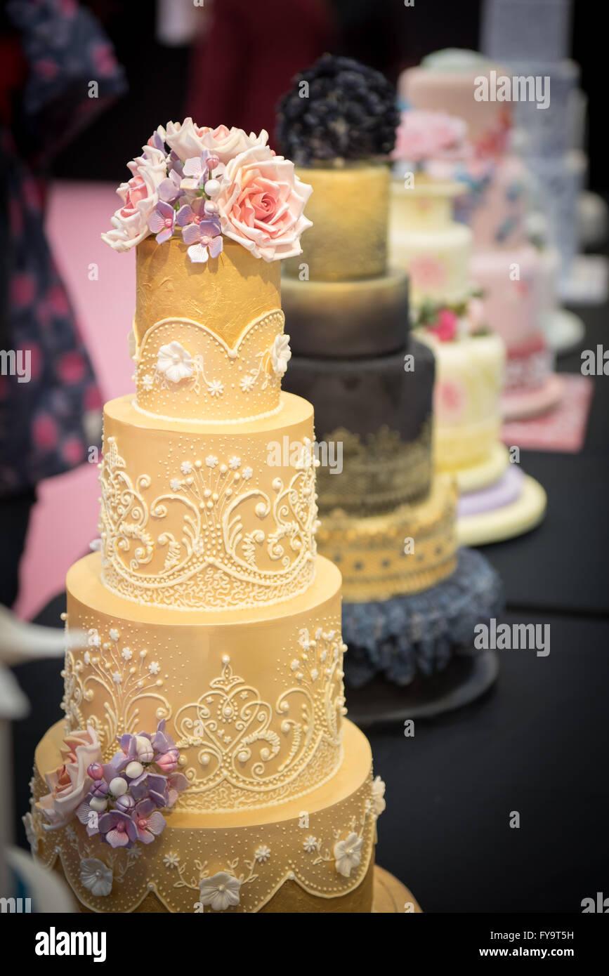 Gâteaux de mariage décoration décoration au henné au gâteau International - Les Sugarcraft Photo Stock