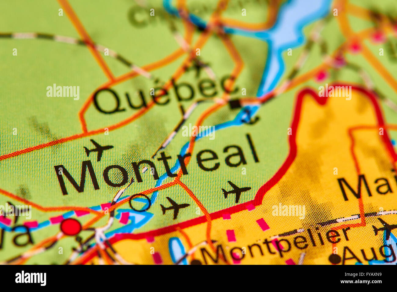 Carte Du Canada Montreal.Montreal Map Photos Montreal Map Images Alamy