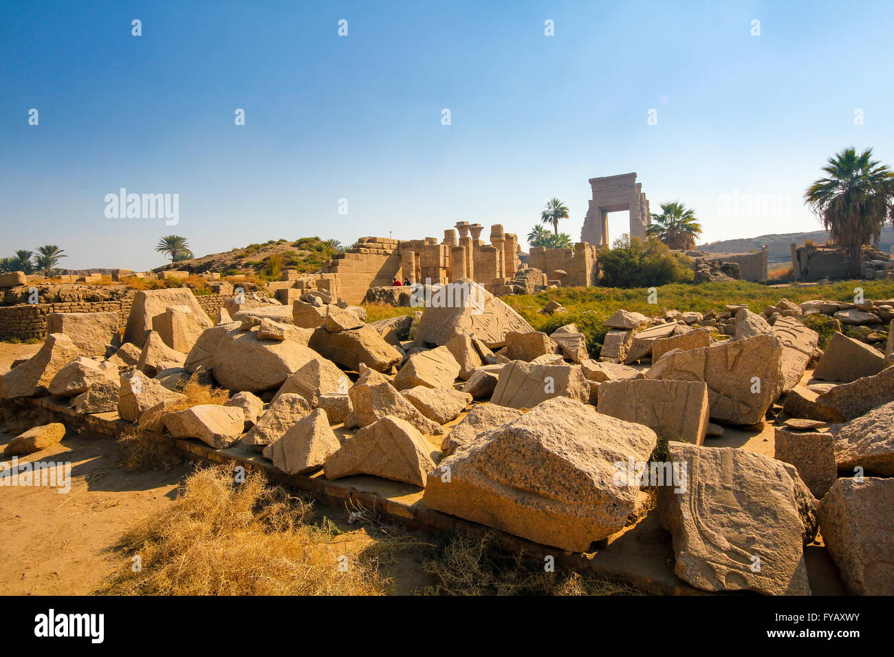 Temple de Karnak, Louxor, Egypte, Afrique du Sud Photo Stock