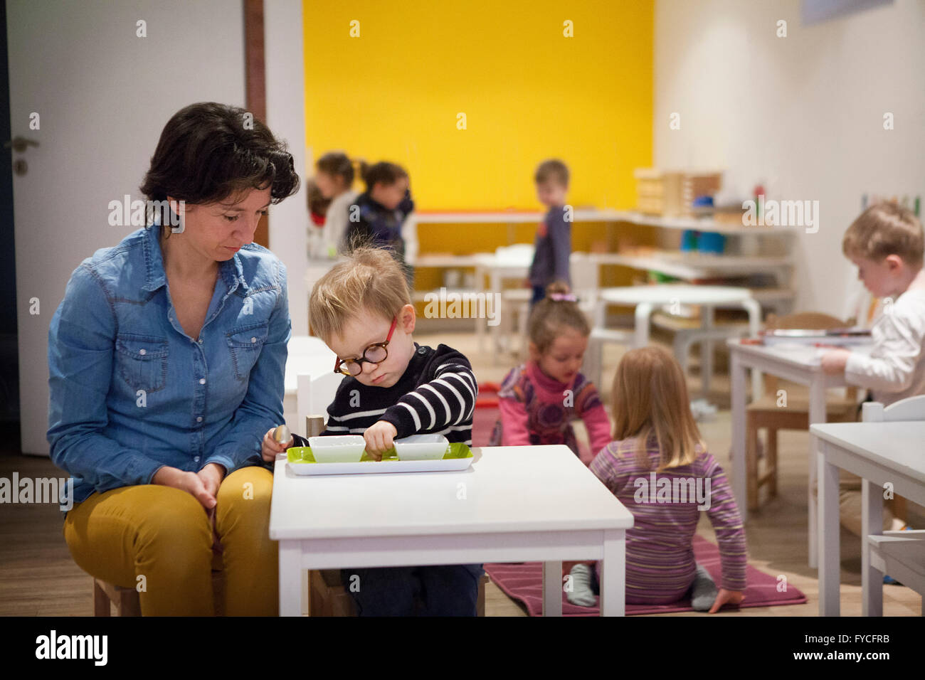 ÉCOLE MATERNELLE Photo Stock