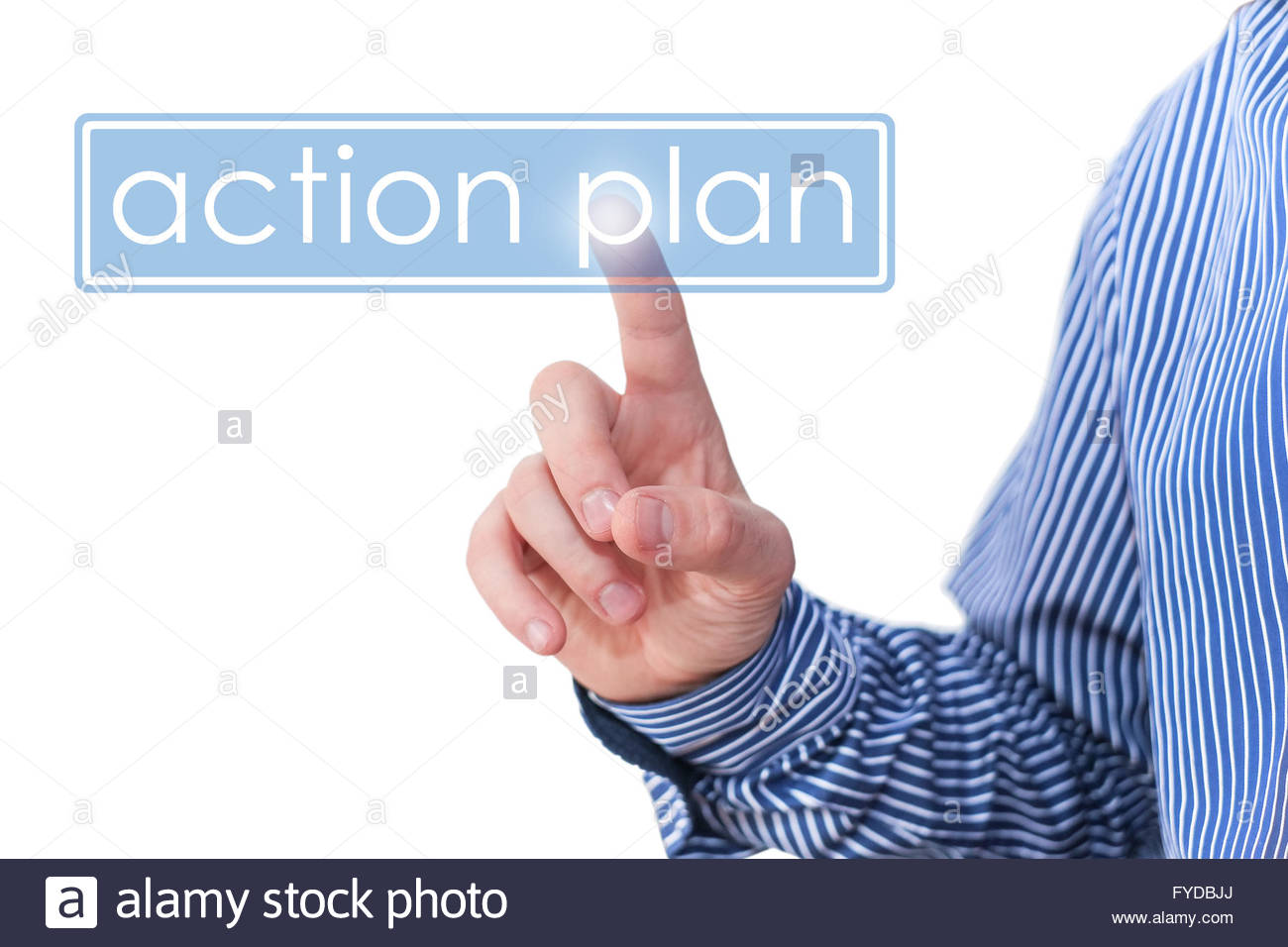 Plan d'action - concept d'affaires Photo Stock